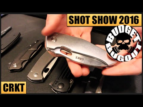 Best New EDC Pocket Knives | Columbia River Knife & Tool [CRKT] -- SHOT Show 2016