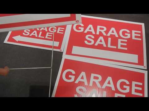 WDS Premium Garage Sale Signs With Stakes