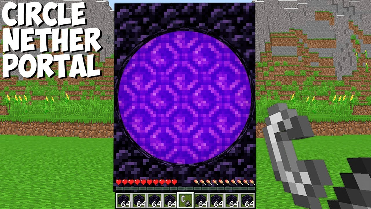 WHAT if YOU BUILD and LIGHT CIRCLE NETHER PORTAL in Minecraft ? INCREDIBLY PORTAL !