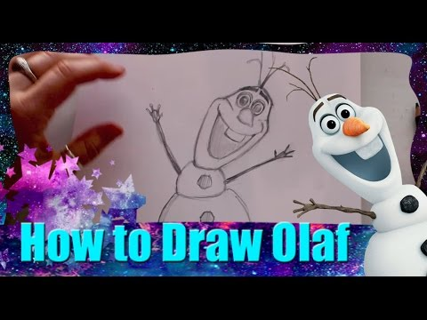 How to Draw OLAF the Snowman from Disney's Frozen - @DramaticParrot