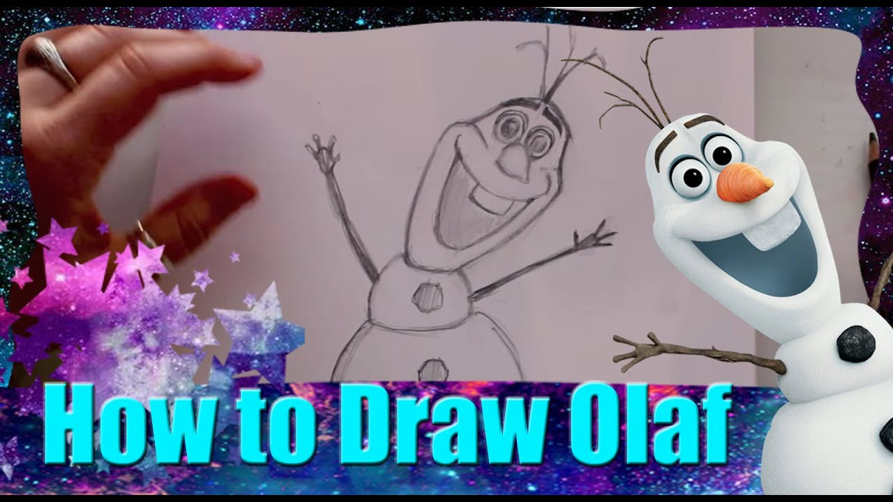 How To Draw Olaf The Snowman From Disney S Frozen