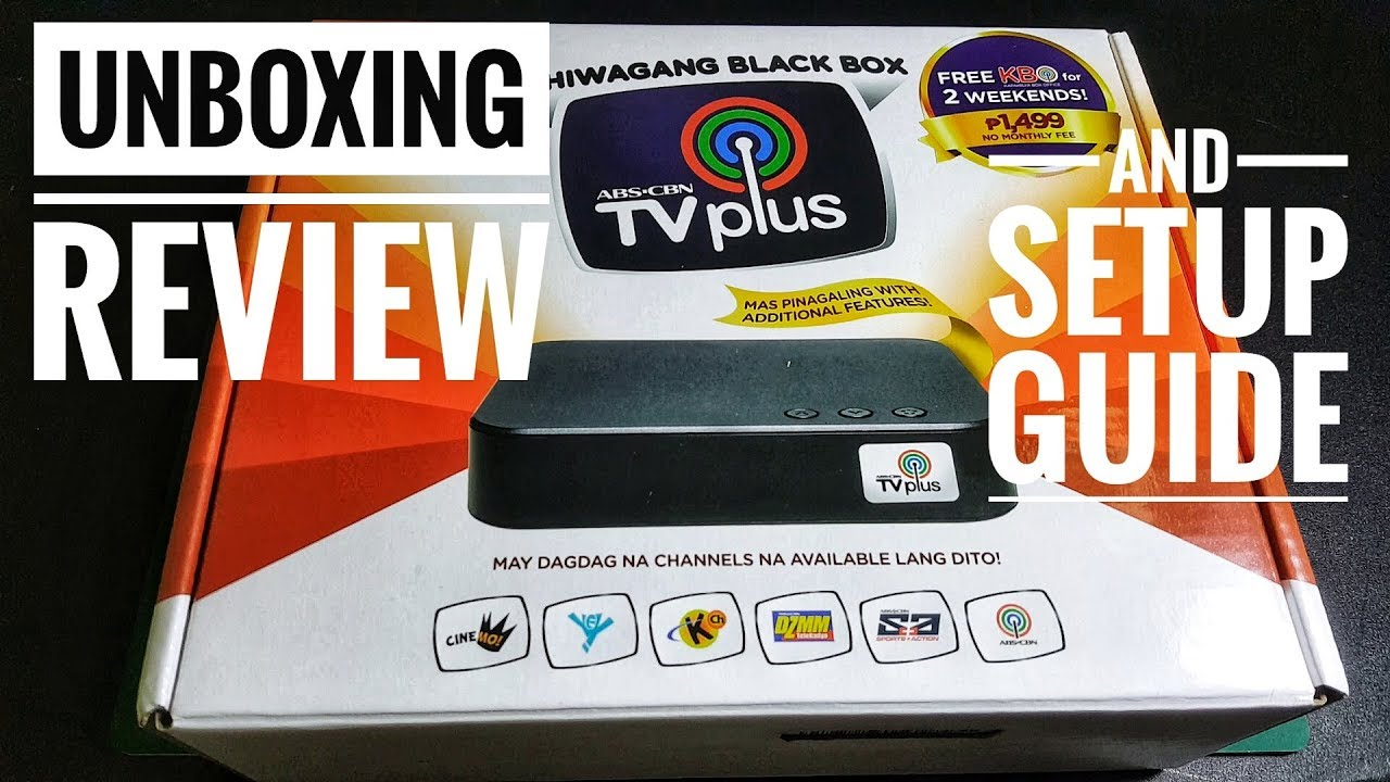Abs Cbn Tv Plus Unboxing Review And Set Up Guide Youtube