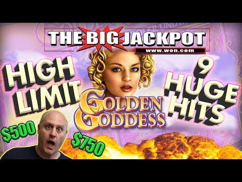 HUGE $500 / $750 BETS  ✦ Private Patreon Play 🌹9 JACKPOTS on GOLDEN GODDESS! 😄 | The Big Jackpot