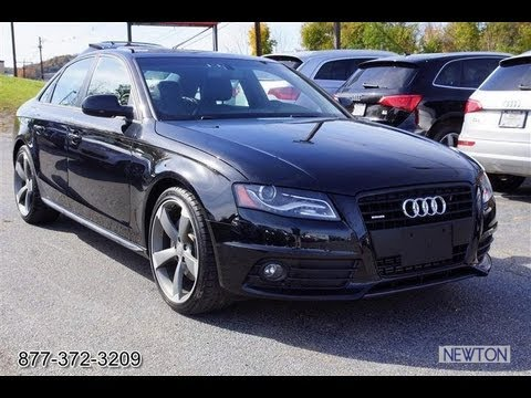 2012 audi a4 2 0t quattro b8 s line black edition vehice overview youtube. Black Bedroom Furniture Sets. Home Design Ideas