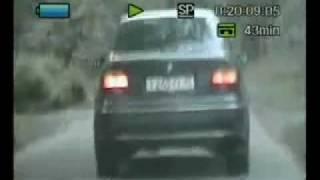 Черный BMW пытается скрыться от ДПС ГИБДД