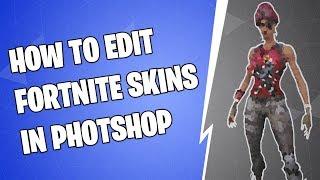 How to edit Fortnite Battle Royale skins | Photoshop Tutorial