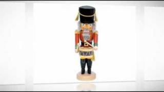 Wooden Ulbricht Drummer And Musician Nutcrackers