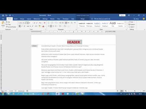 Tutorial Membuat Daftar Isi Otomatis dan Penomoran Halaman MS Word 2013.