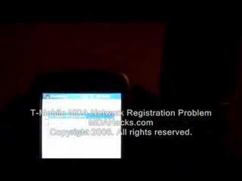 T-Mobile MDA Network Registration Problem On Video!