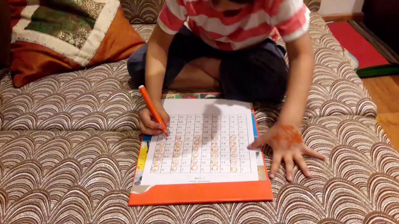 moksh u0027s math activity 43 montessori insp hundreds board patterns