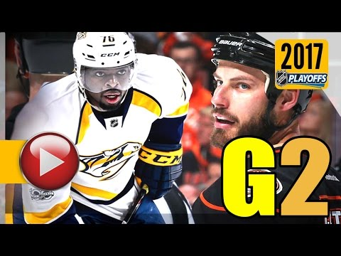 Nashville Predators vs Anaheim Ducks. NHL 2017 Playoffs. Western Conference Final. Game 2. (HD)