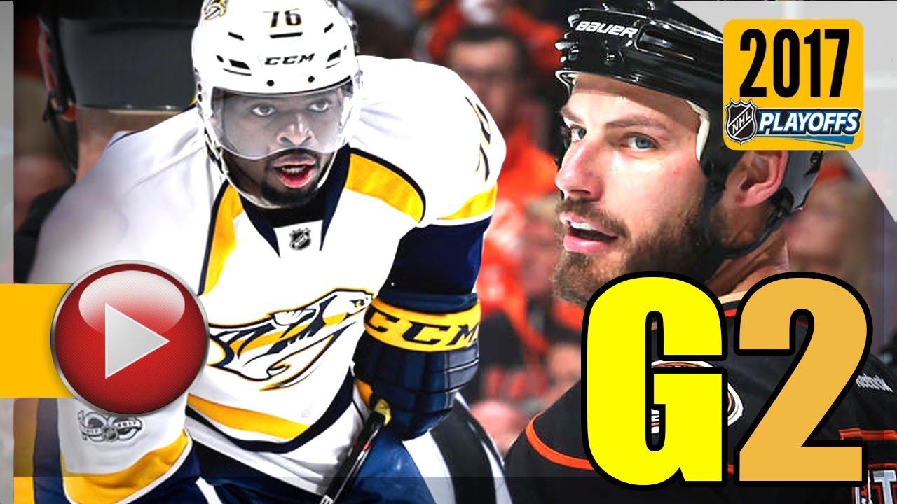5807b28d2ad Nashville Predators vs Anaheim Ducks. NHL 2017 Playoffs. Western Conference  Final. Game 2. (HD)