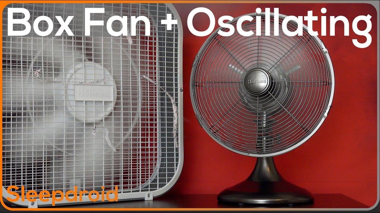 Box Fan Oscillating Fan Noise Stereo Video Rotating Fan