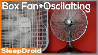 ►Box Fan~Oscillating Fan Noise Stereo Video. Rotating Fan White Noise. Box Fan 10 hours for Sleeping