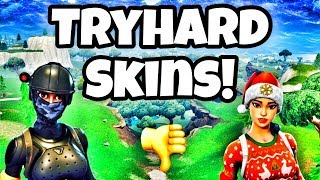 FORTNITE TOP 10 MOST TRYHARD SKINS! VLOGMAS JOUR 4!