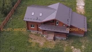видео Дом из бревна под ключ в Туле