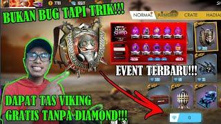 BUKAN CHEAT!!! BEGINI CARA DAPAT TAS VIKING GRATIS TANPA DIAMOND EVENT TERBARU FREE FIRE INDONESIA