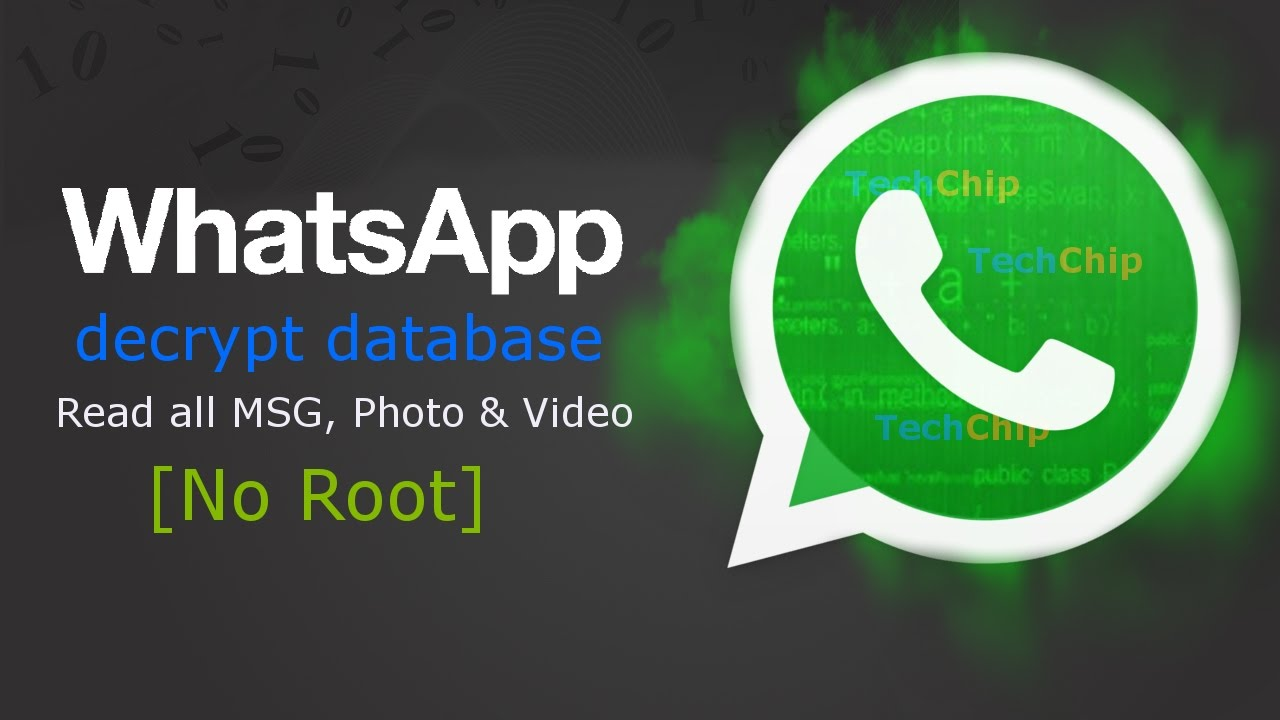 [Hindi] #Whatsapp Hack: Decrypt Database Read All MSG, Photos and Video,