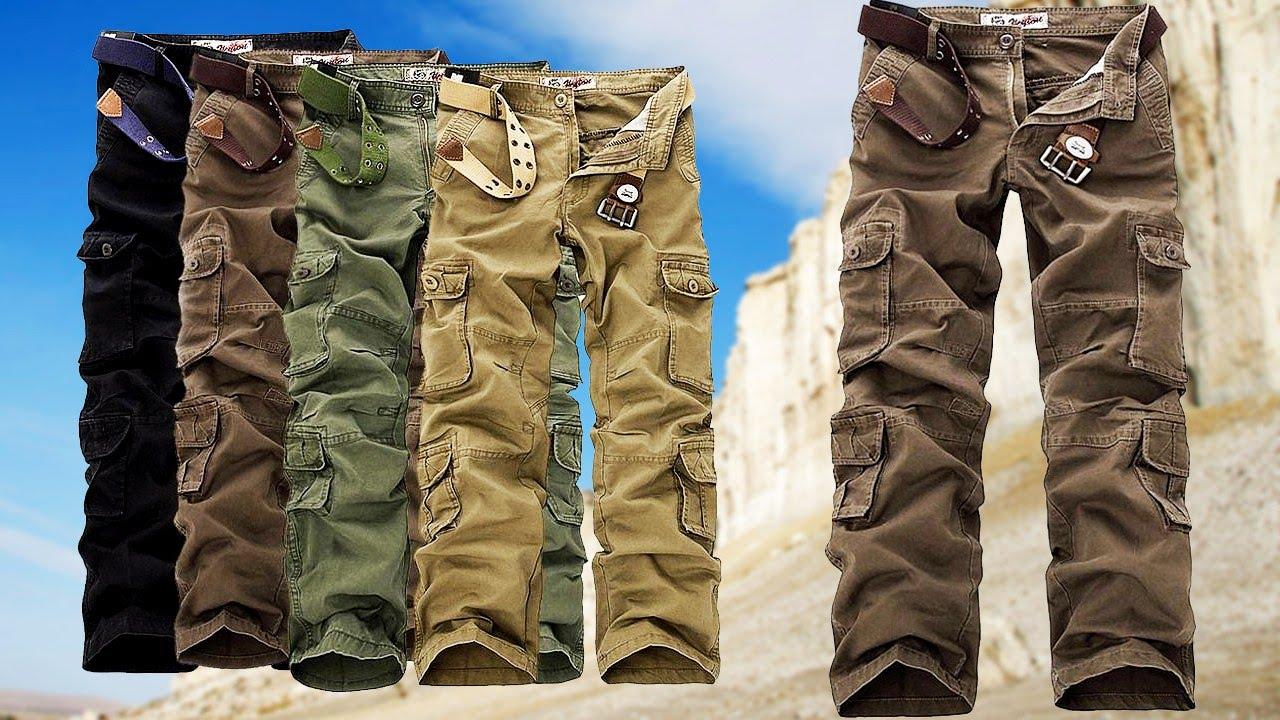 Мужские штаны милитари. Для поклонников милитари и мужчин, требующих от одежды полноценного комфорта. Убедись в том, что штаны милитари это классический, удобный и стильный фасон штанов. Брюки-карго loose fit straight без застежки-в клетку-bpc bonprix collection · брюки-карго loose fit.