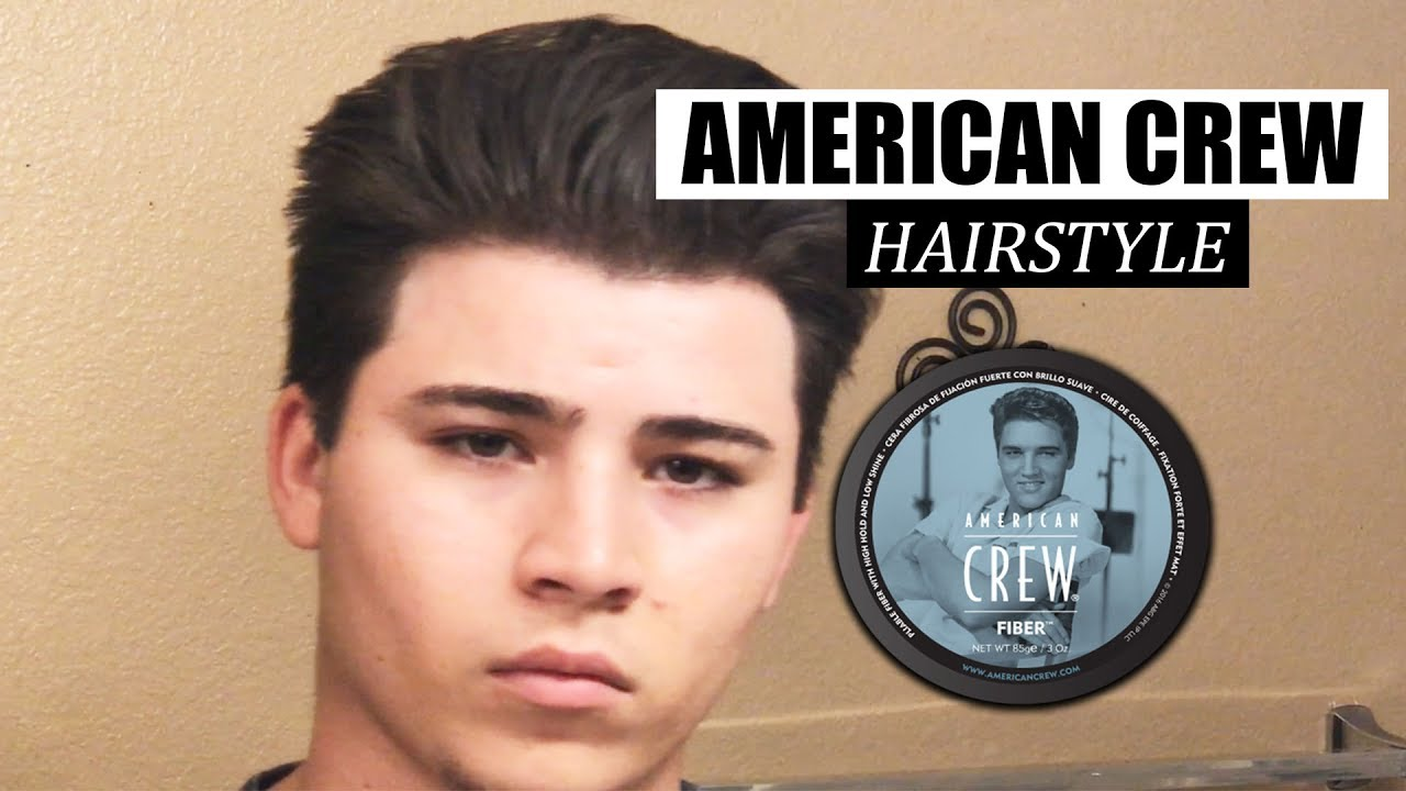 how to style your hair l american crew fiber l men's hair tutorial 2017