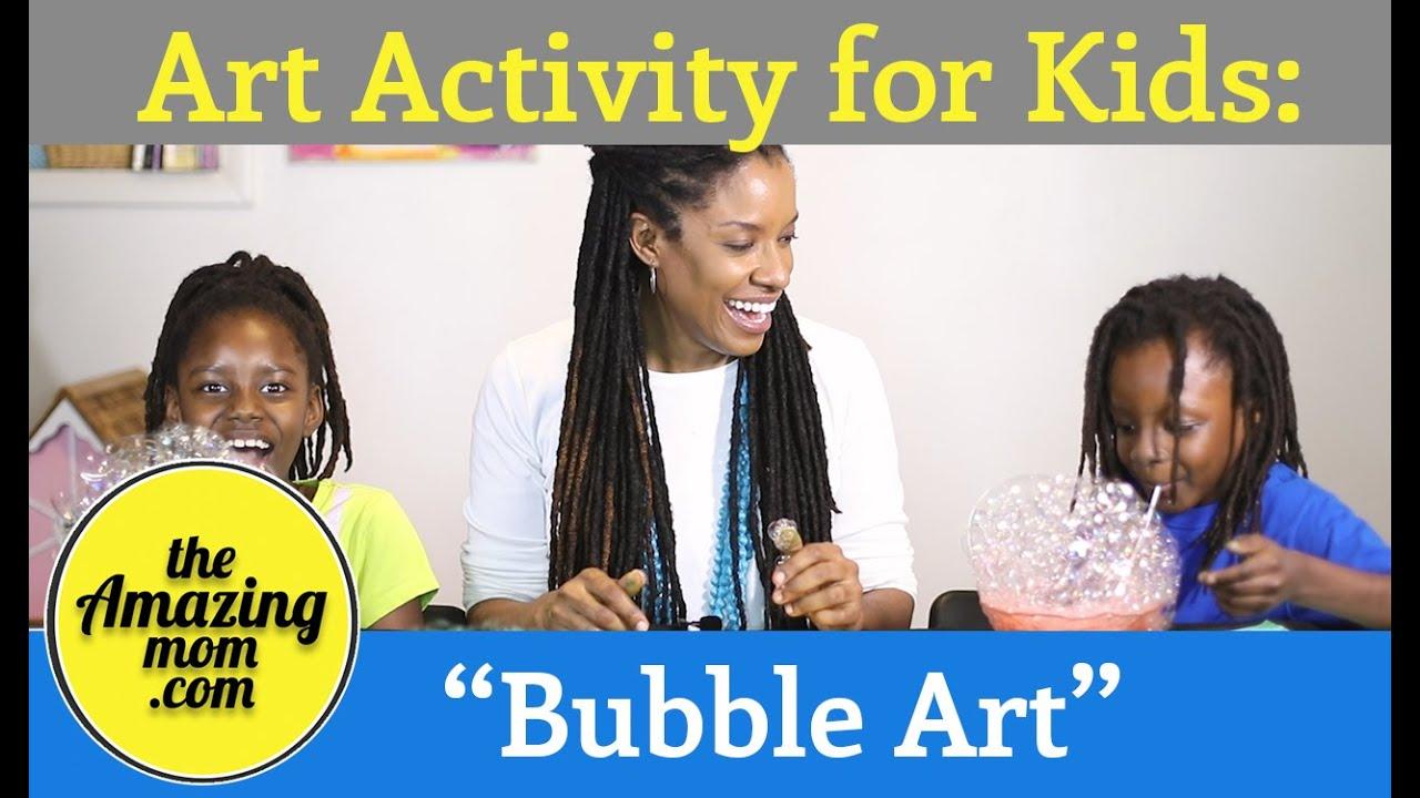 """Art Activity for Kids: """"Bubble Art"""""""
