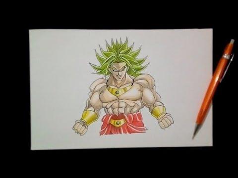 رسم Broly من أنمي Dragon Ball رسم سريع Youtube