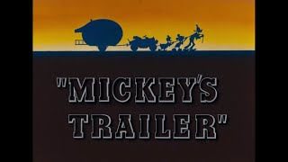 Mickey Mouse - Mickey's Trailer (1938) Opening Title & Closing [Disney+ Print]
