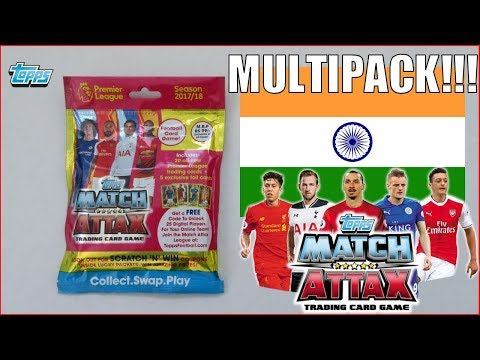 MULTIPACK OPENING ! | Match Attax 2017-18 Premier League | INDIA EDITION