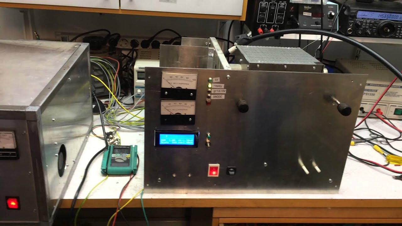 1st HV test on new 70cm GS35B amplifier built by TF3CY