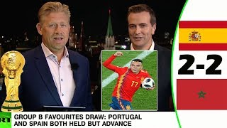 SPAIN VS MOROCCO 2-2 [POST MATCH ANALYSIS] WITH PETER SCHMEICHEL!