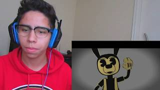 REACT BORIS SONG - BAD WOLF (em Português) Bendy and the Ink Machine Song [Rockit Gaming Tribute]
