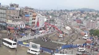 china contraction company making under pass road at kalanki chowk in Kathmandu Nepal
