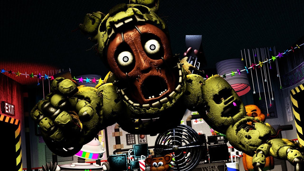 [SFM FNAF] FNAF 6 Ultimate Custom SPRINGTRAP Night New Age Rockstar  Jumpscare
