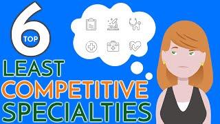 6 EASIEST Doctor Specialties | Least Competitive Residency Programs