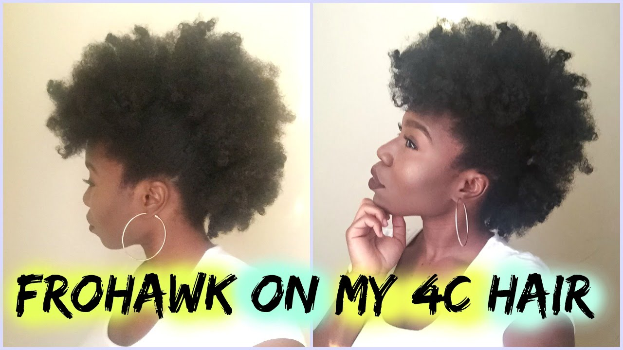 Hair Tutorial: Frohawk on 4c Natural Hair - YouTube