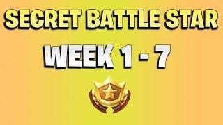 ALL Fortnite season 6 Secret Battle Star Locations week 1 to 7 - Season 6