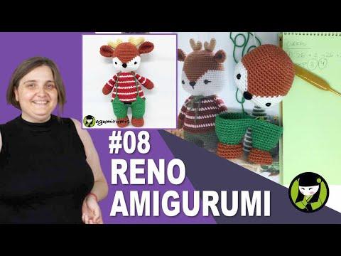 Reno amigurumi 8 MUÑECOS DE NAVIDAD TEJIDOS A CROCHET