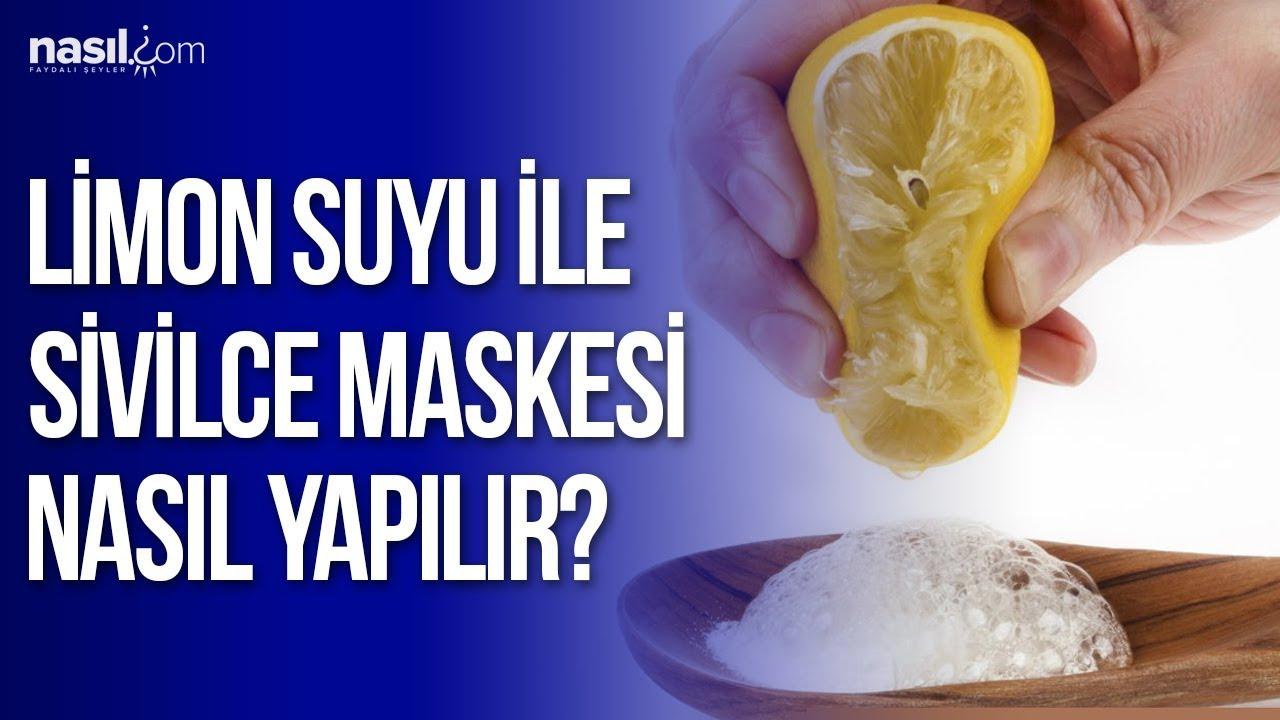 Limon Suyu İle Sivilce Maskesi Nasıl Yapılır?