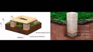 Столбчатый фундамент своими руками видео(, 2016-07-04T13:02:43.000Z)