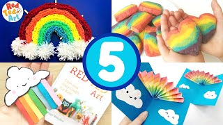 5 Rainbow Crafts  - DIY Rainbows for Spring and Summer Camp Crafting!