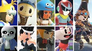 Super Smash Bros Ultimate   All Mii Fighter Costumes (+ Sans & Cuphead)