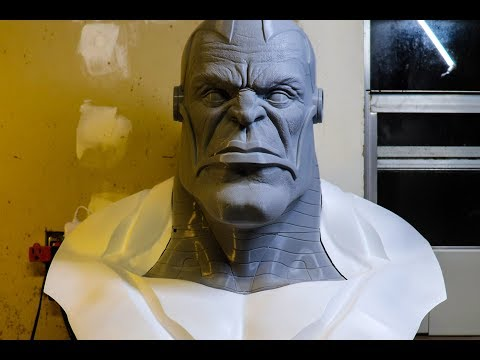 3D Printed Zbrush Marvel Bust: Part 2-The Torso