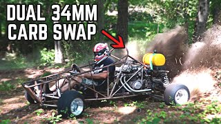 750 Cross Kart | DUAL CARB Swap + Jetting!