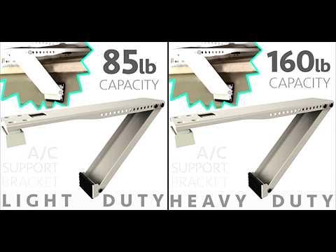 ALPINE HARDWARE 1 Piece Universal Window Air Conditioner Bracket Installation VIDEO
