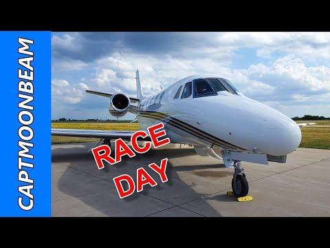 RACE DAY, Citation XLS Flight to Newton Iowa, Pilot Vlog 139