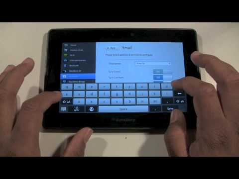 Blackberry Playbook: Setting Up Email | H2TechVideos