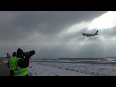 Airside action spotting at Zurich Airport - take-offs & close-ups - 07/02/2015