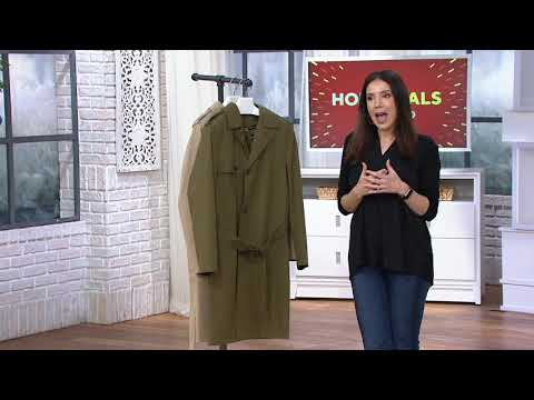London Fog Men's Water Resistant Trench Coat On QVC