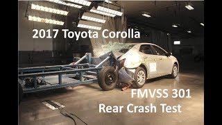 2015-2018 Toyota Corolla Sedan FMVSS 301 Rear Crash Test (50 Mph)