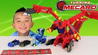 TURNING MECARD!! Auto Transforming Vehicles MEGA DRAGON Ckn Toys